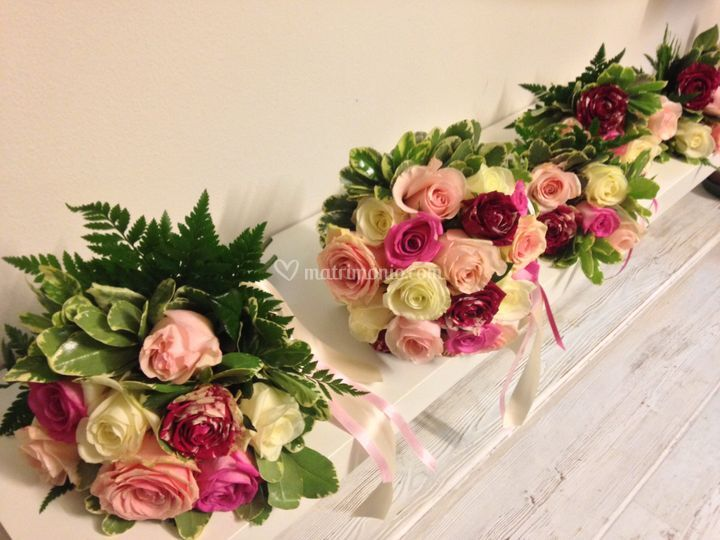 Bouquet sposa e damigella