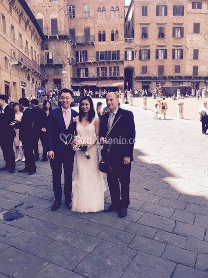 In piazza del Campo a Siena.