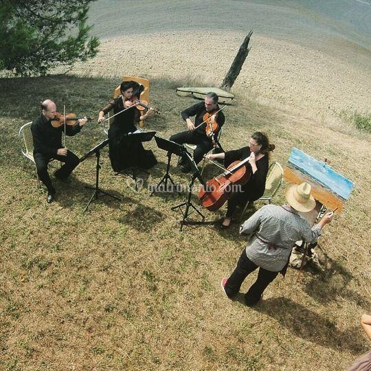 Quartetto d'archi col pittore!