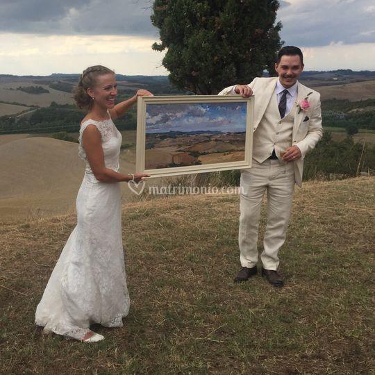 Il quadro regalato agli sposi!