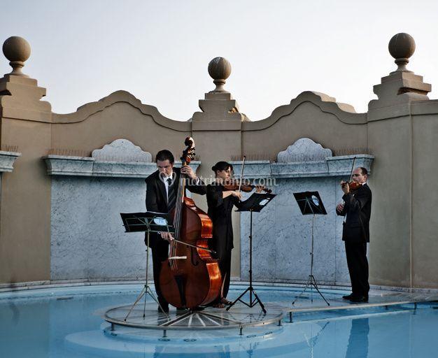 Trio d'archi in piscina!