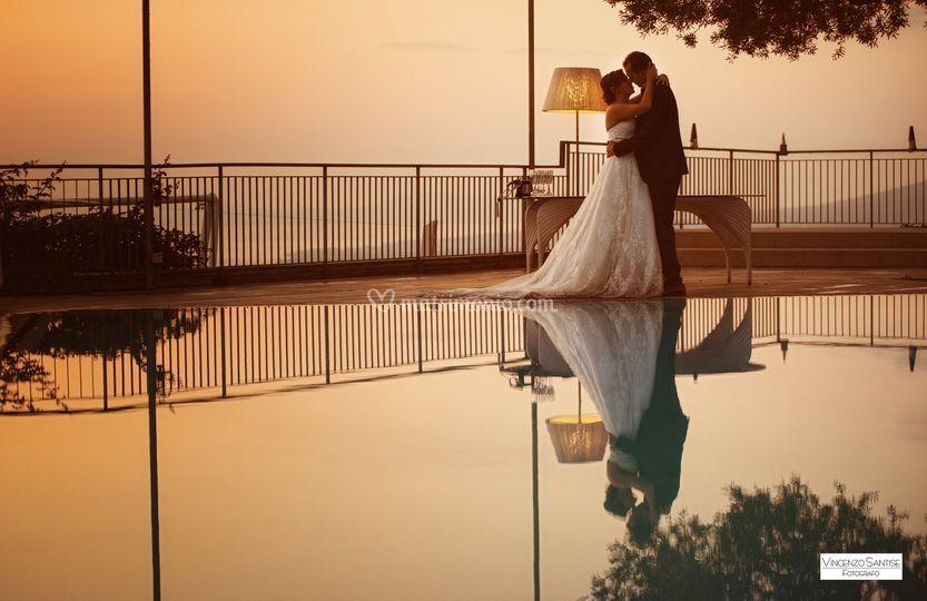 Un bacio al tramonto