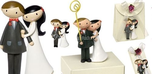 Sposi Moderni in calamita, portafoto, cake topper