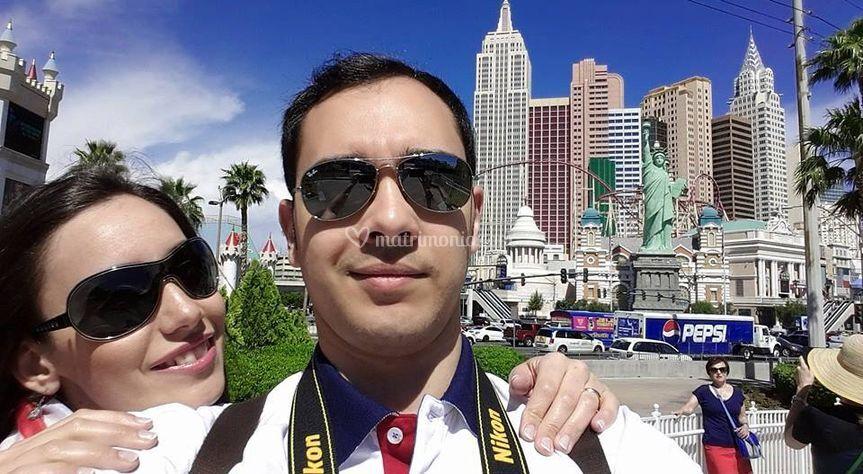 Paola e Mario a Las Vegas