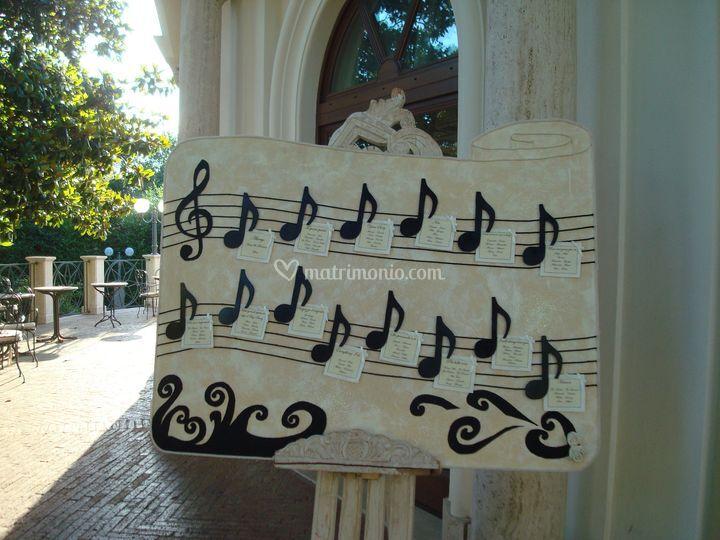 Tableau canzoni in legno