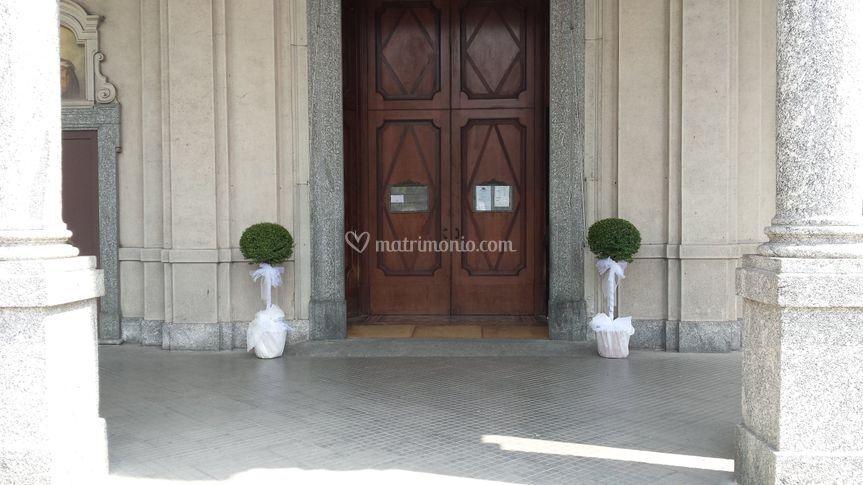 Allestimento ingresso chiesa