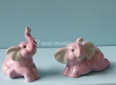 Bomboniere elefantini rosa