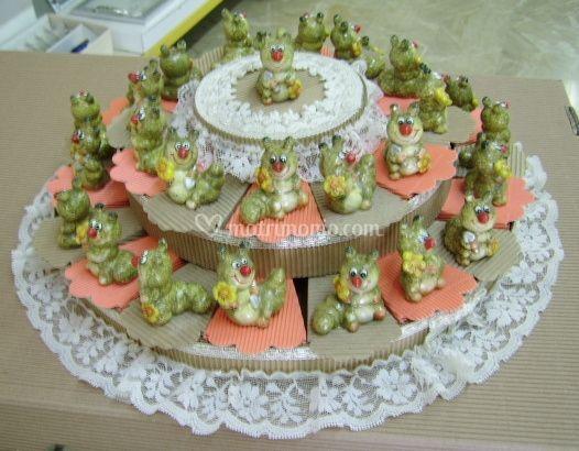 Bomboniere torta mista celeste