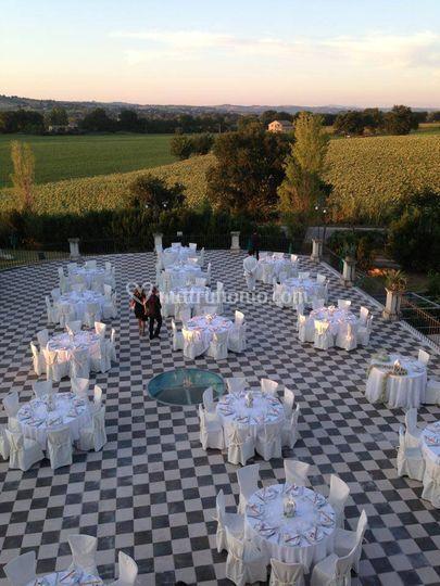 Matrimonio in terrazzo