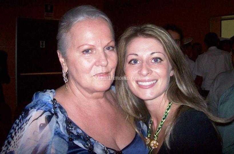 Con Katia Ricciarelli
