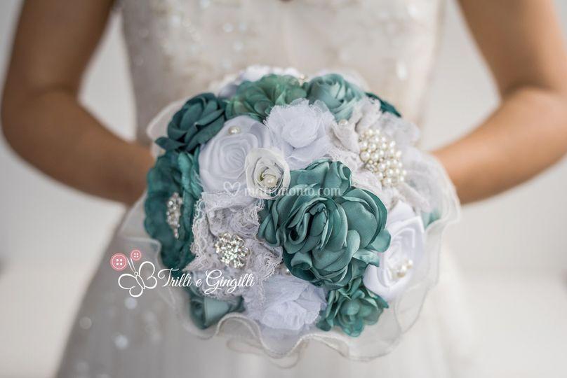 Bouquet ottanio stoffa