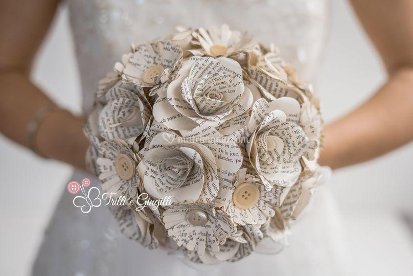 Bouquet carta bottoni