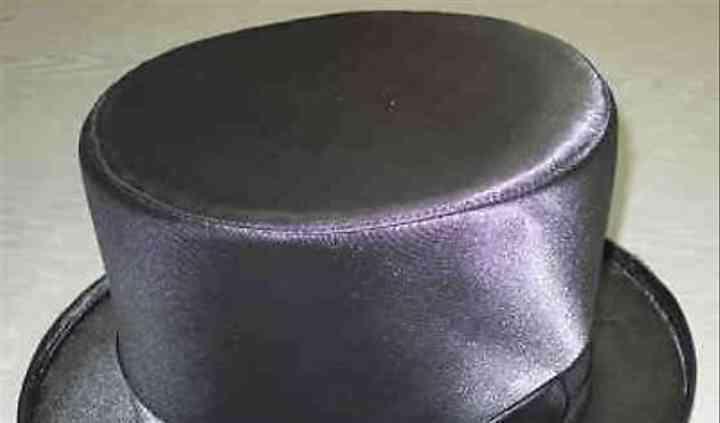 Cappello a cilindro nero raso