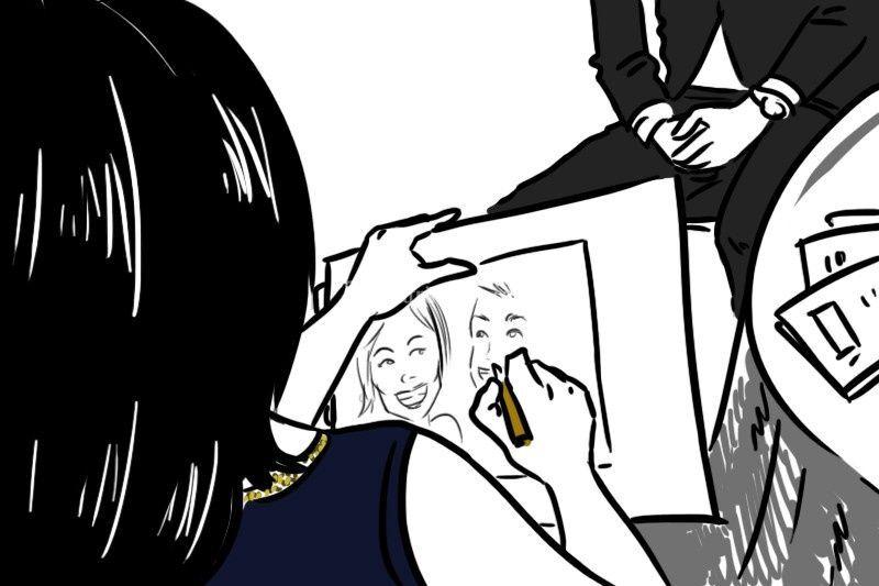 Sara Elena Meloni caricaturista