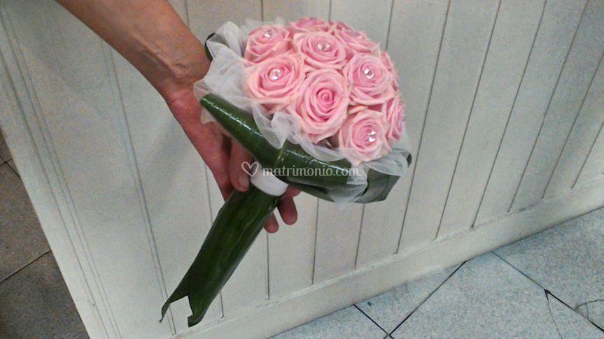 Bouquet sposa rose