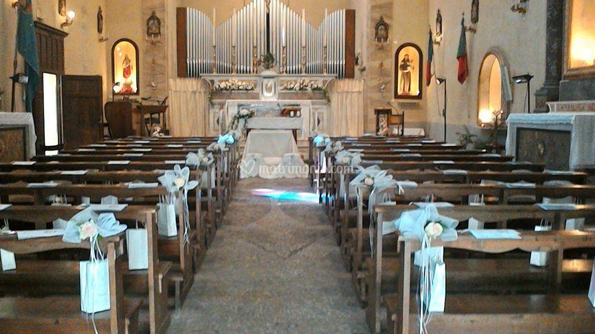 Allestimento chiesa, dettaglio