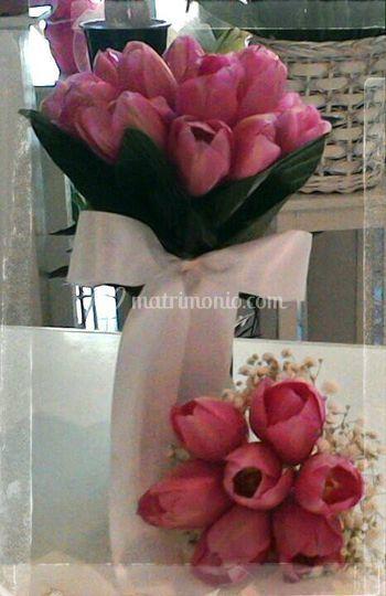 Bouquet sposa tulipani