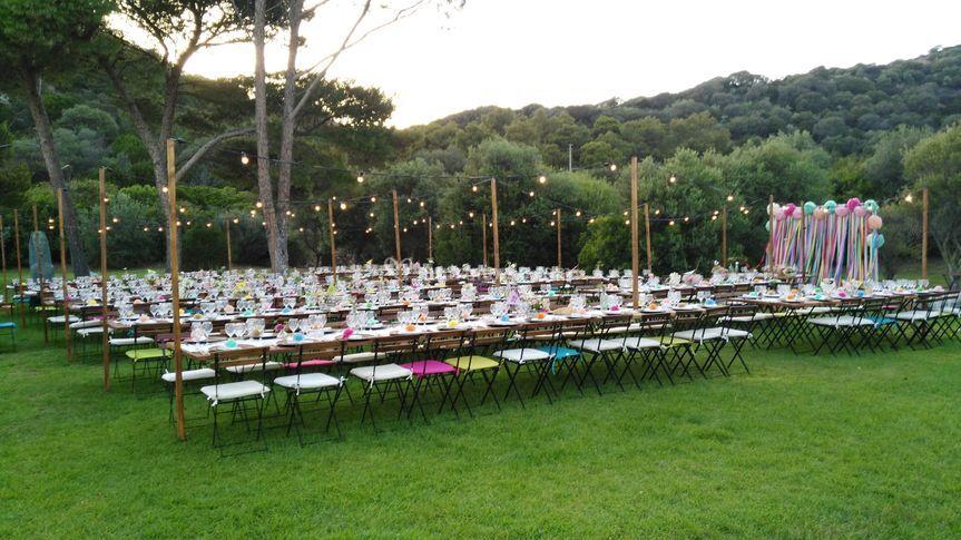 Noleggio tavoli sedie Sardegna