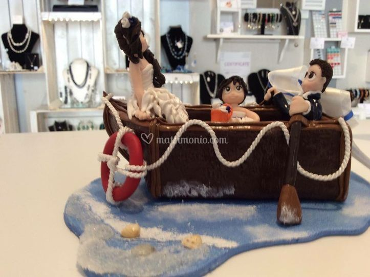 Cake topper barca a remi