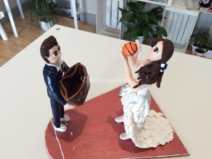 Cake topper basket