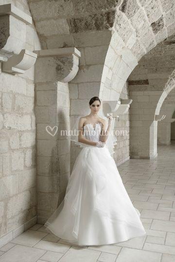 Sposa abito con bustino