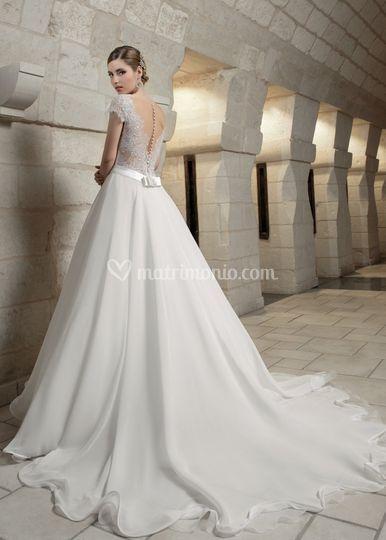 Sposa abito corpetto ricamato