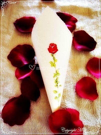 Cono riso rosa rossa lunga