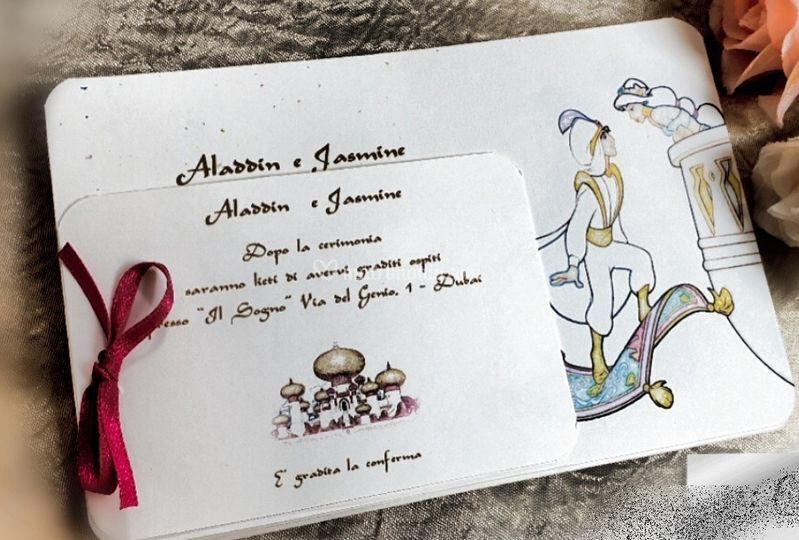 Inviti semplici aladdin&jasmin
