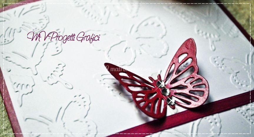 Dettaglio card farfalle fucsia