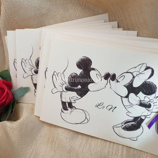 Inviti Minnie e topolino