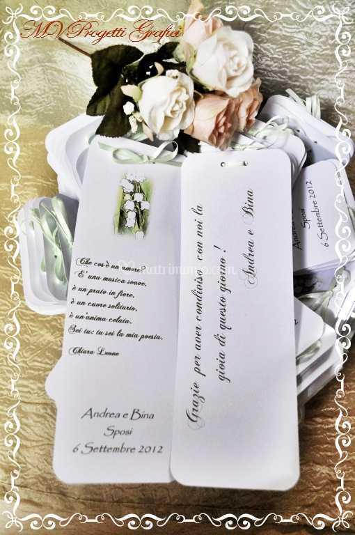Segnaposto Matrimonio Ringraziamento.Segnaposto Poesia Con Ringraziamento Di Progetti Grafici E