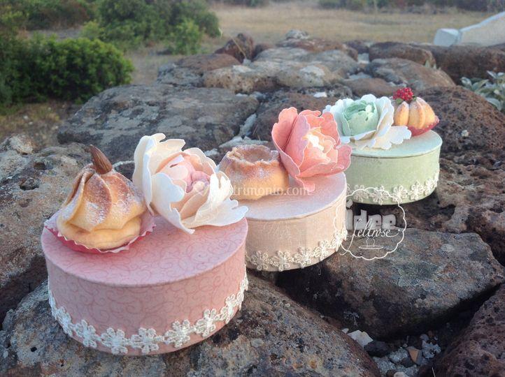 Mini cakes porta confetti