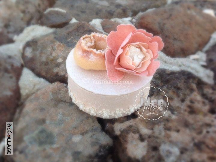 Mini cake porta confetti