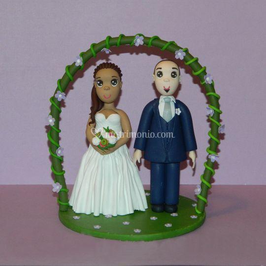 Sposi arco fiorito