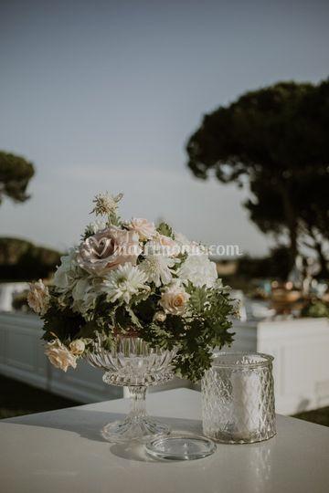 Dettaglio fiori villa