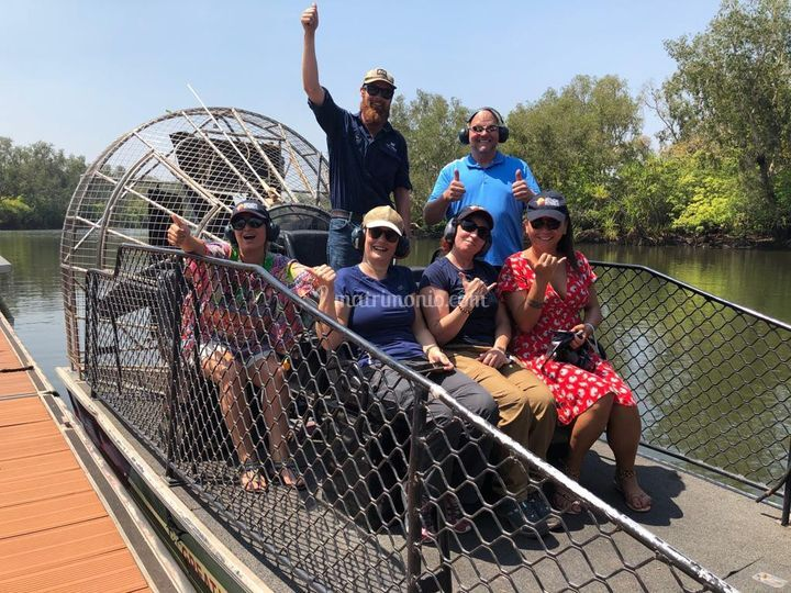 Io in airboat nel Top End