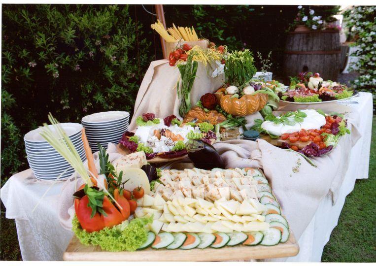 Buffet Matrimonio Rustico : Sanzini
