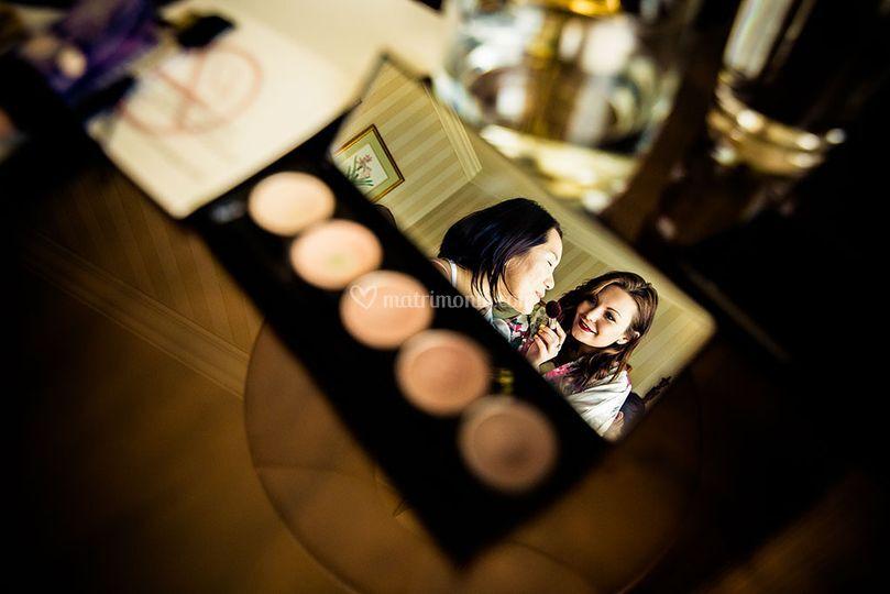 Foto creativa trucco sposa