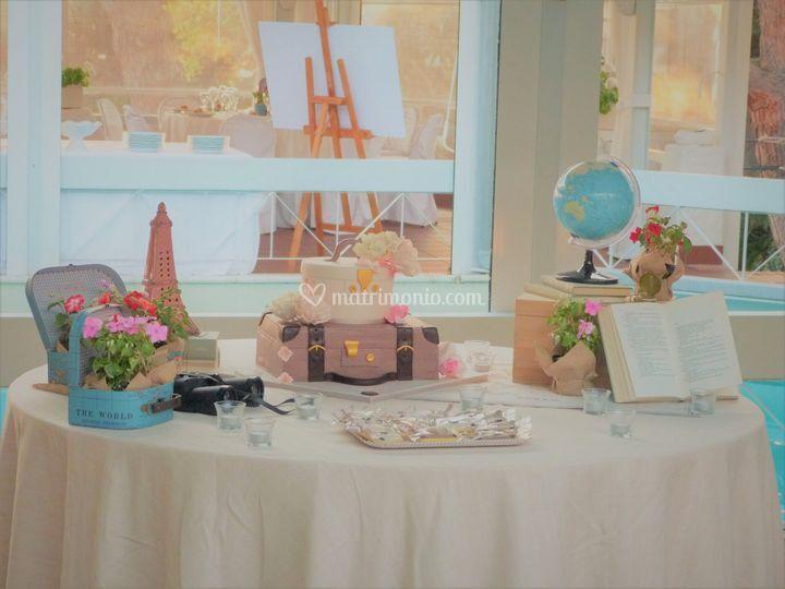 Matrimonio Tema Viaggio Tavoli : Tavolo torta tema viaggio di the wedding planner foto 54