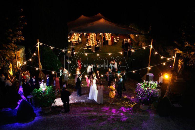 Illuminazione per matrimonio