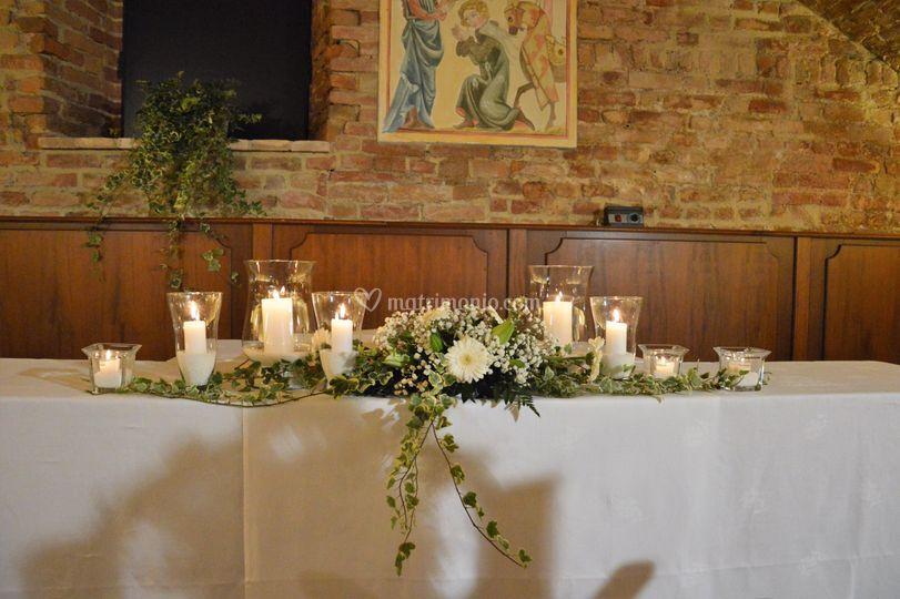 Tavolo cerimonia con candele