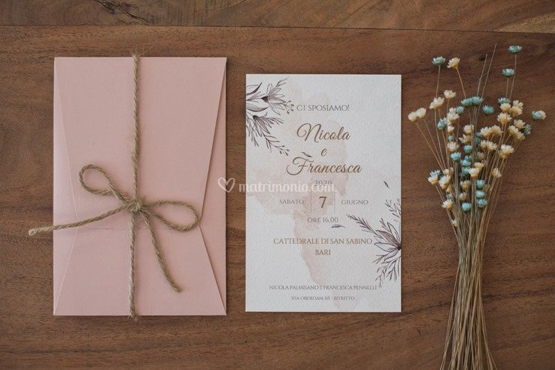 Partecipazioni Matrimonio Bari.Inviti Chic Tipografia Futur Grafica Italia