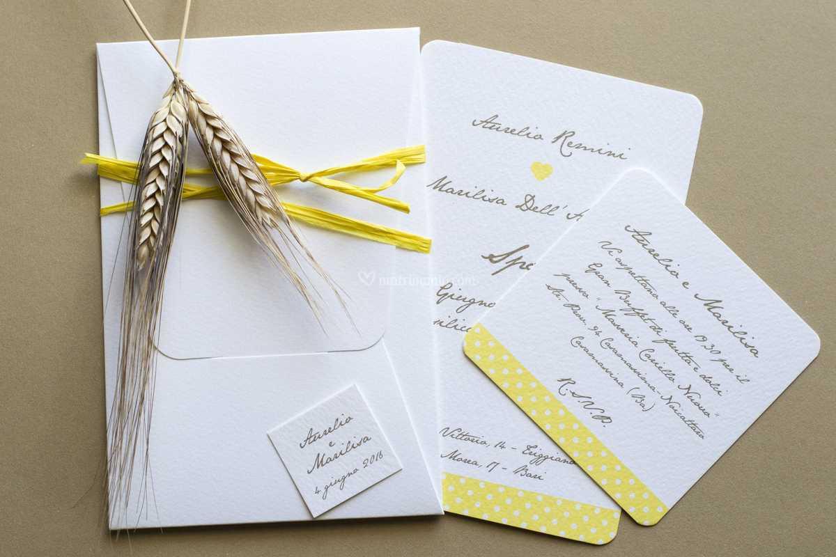 Partecipazioni Matrimonio Gialle.Bacche Gialle Di Inviti Chic Tipografia Futur Grafica Italia Foto 50