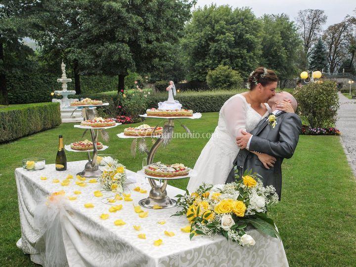 Bacio con torta
