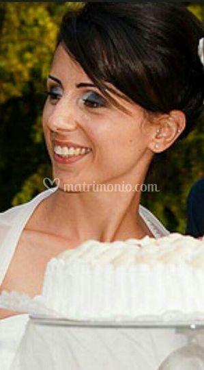 Sposa: smokey e labbra nude