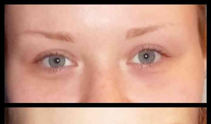 Prima e dopo trucco occhi