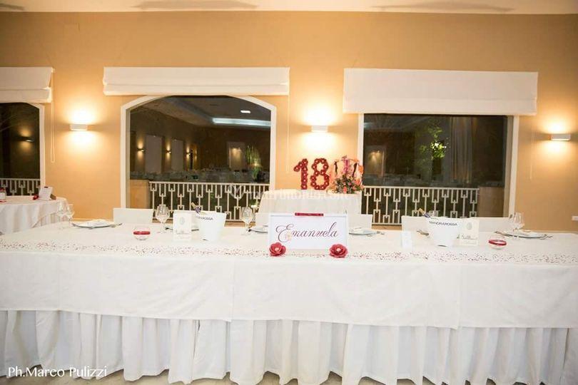Tavolo festeggiata