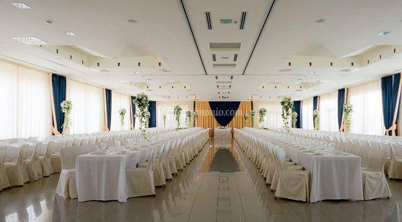 Il salone delle feste di Hotel Mara