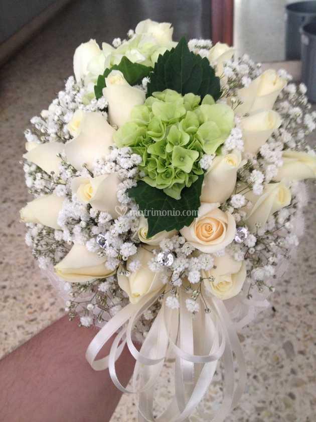Bouquet Sposa Rose E Ortensie.Bouquet Sposa Rose E Ortensia Di La Bottega Del Fiore Foto 1
