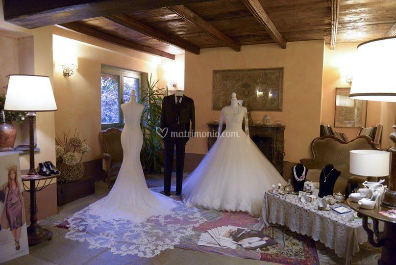 Esposizione abiti sposa